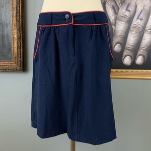 Tommy Hilfiger Navy Skirt with Red Piping